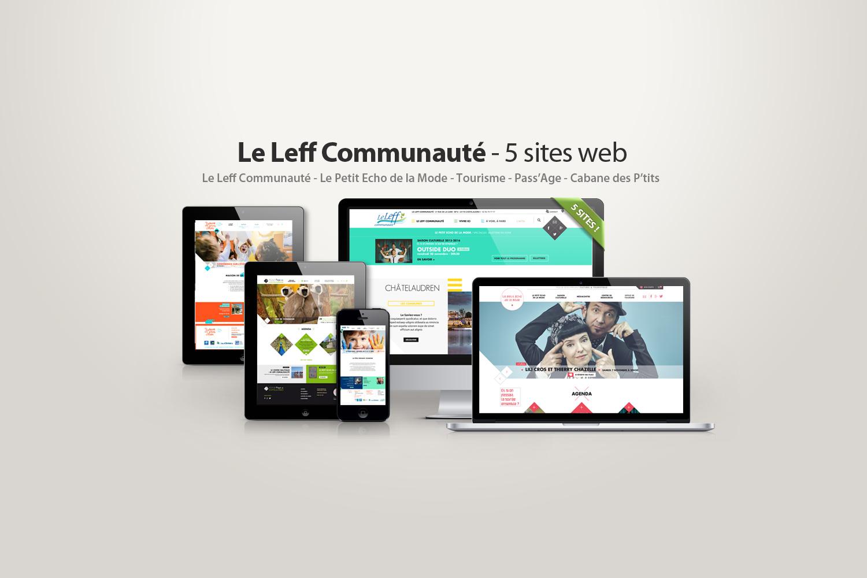 Site internet du Leff Communaute - Petit echo de la mode - Pass-age - La Cabane des ptits loups et tourisme du pays de Chatelaudren